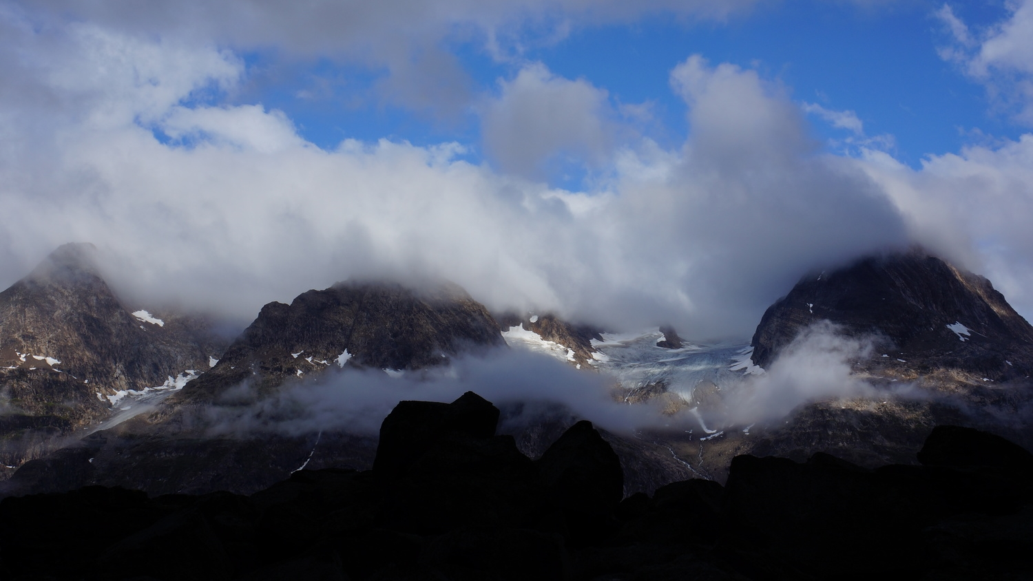 The view from camp in Greenland