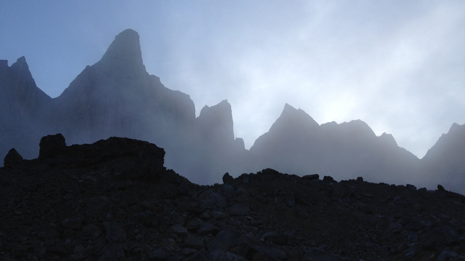 The towers lurking in the cirque