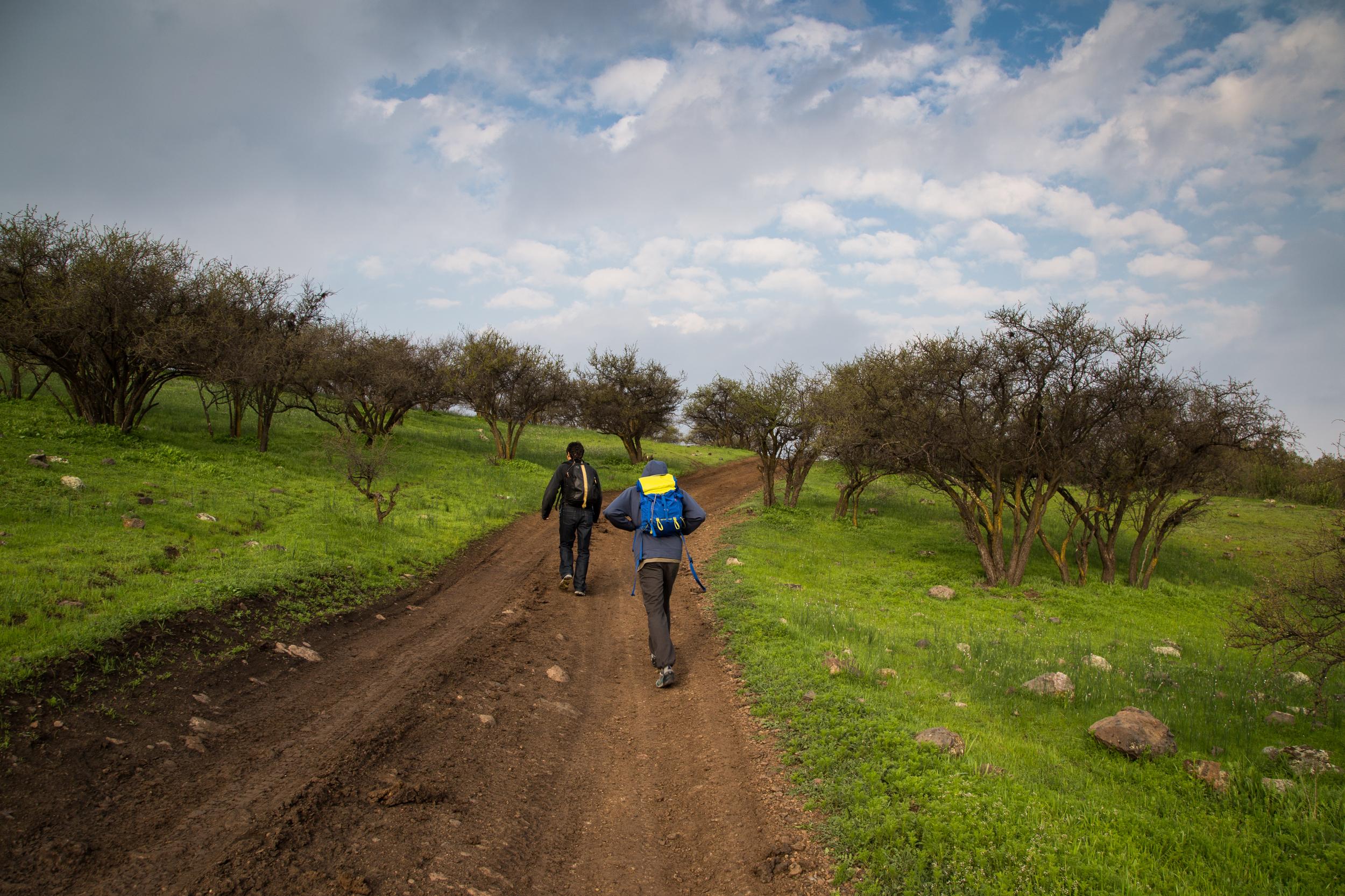 Ethan and Sebastian near Santiago.
