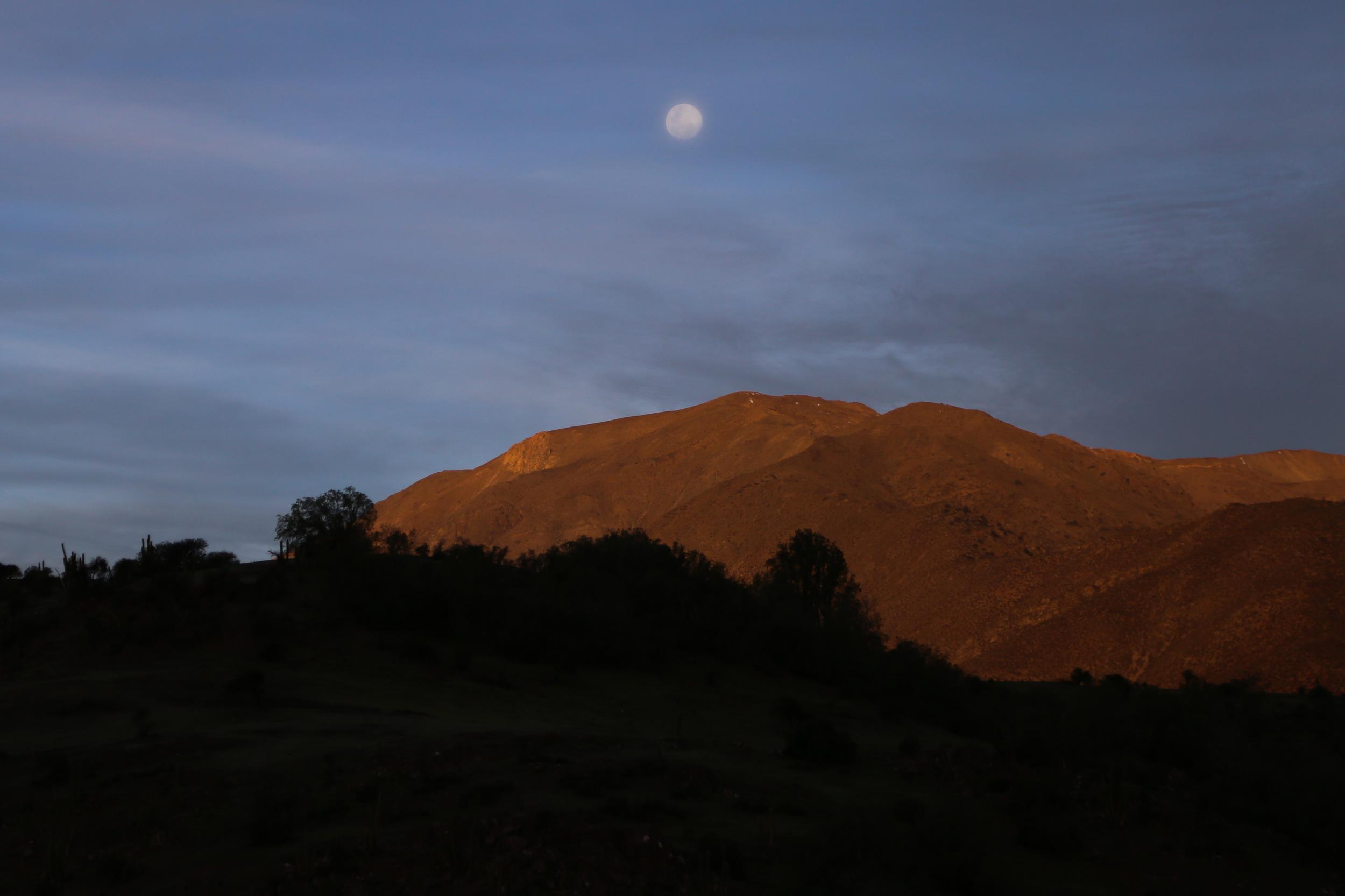 Moonrise near Petorca.