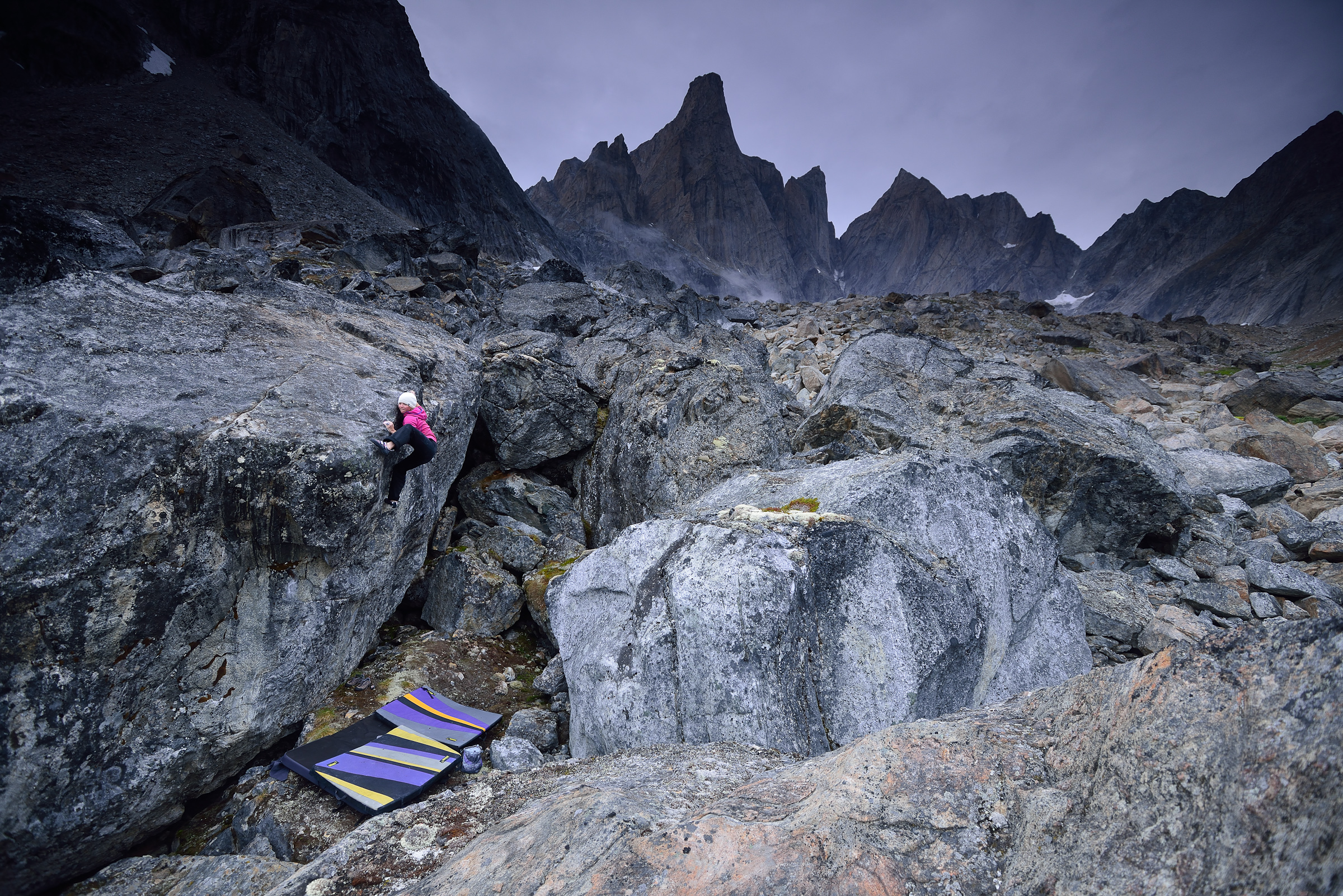 Bouldering in Southeast Greenland