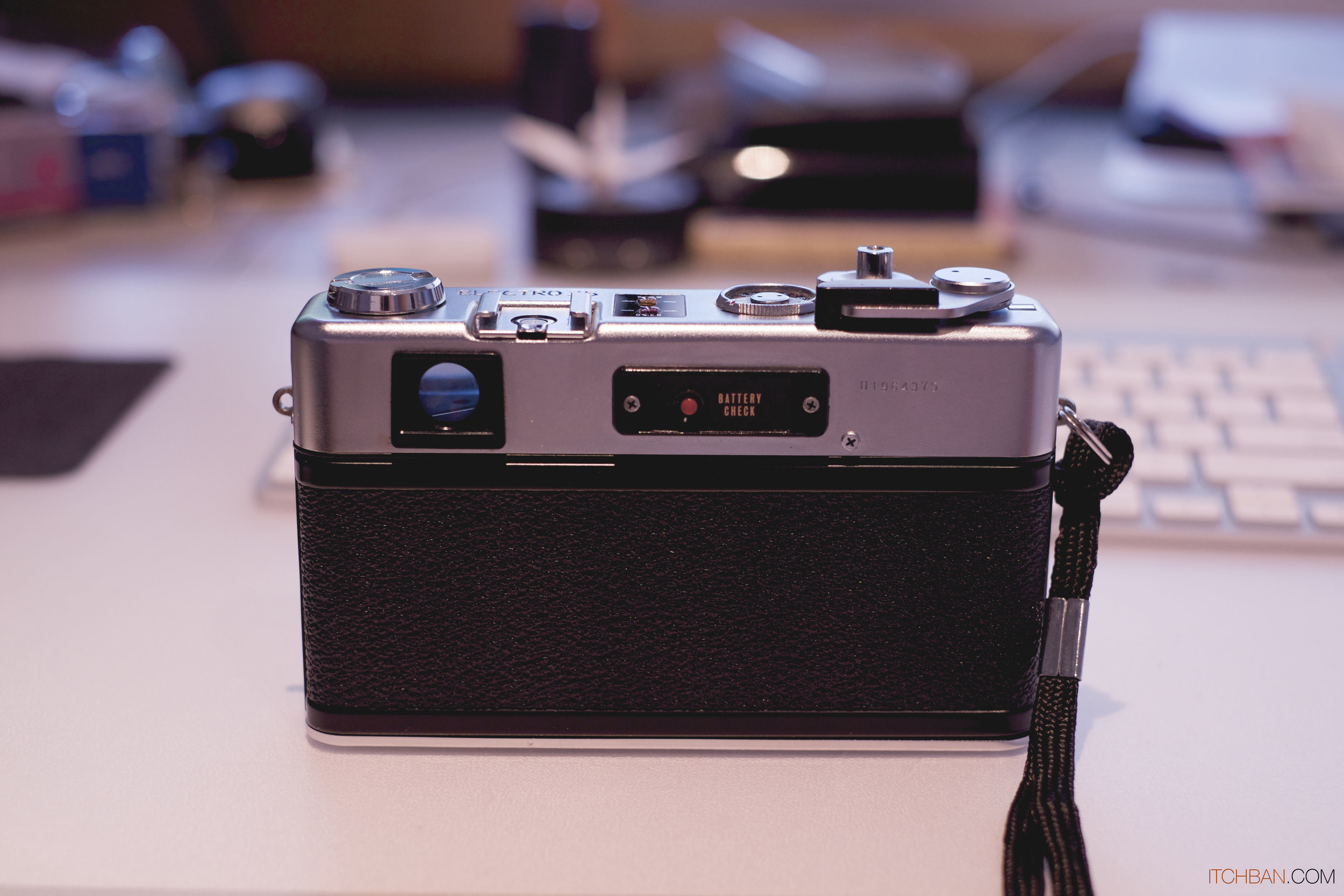 Rangefinder viewfinders are typically positioned to the top left corner of the camera body