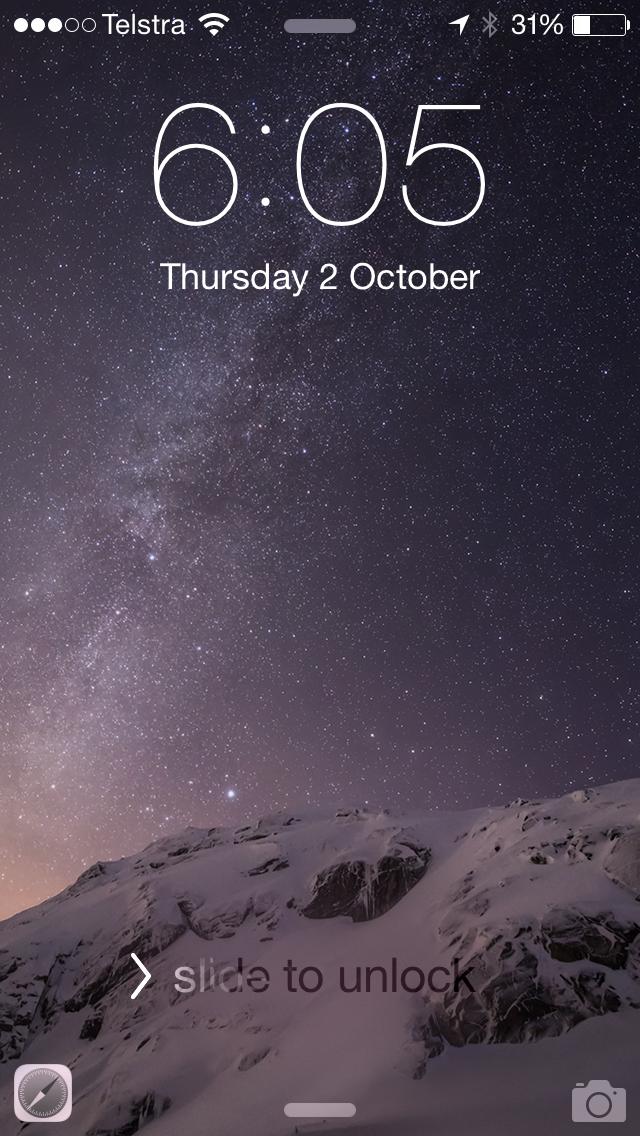 iOS 8 Yosemite Handoff Safari Icon