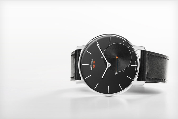 Withings Activite Smartwatch Black Leather Band