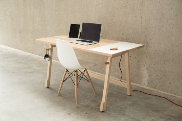 Modern Wooden Integrated Computer Table ITCHBAN.com.