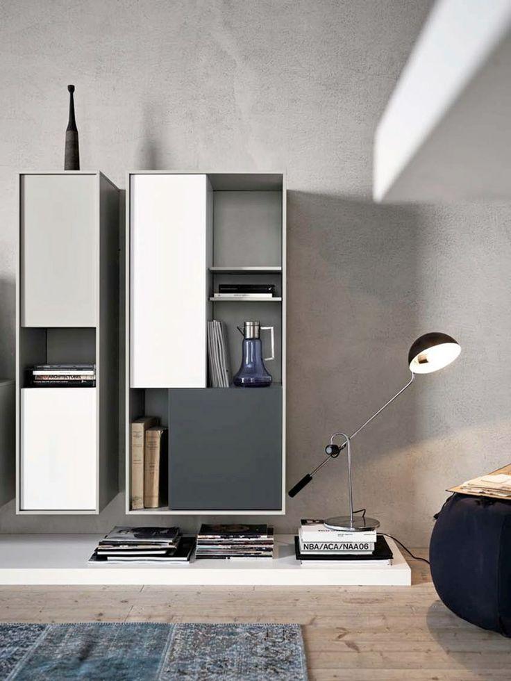 Mounted Shelves on Concrete Minimalist ITCHBAN.com.