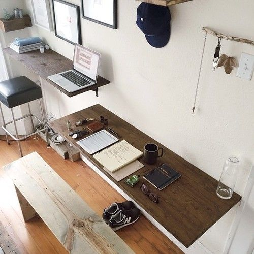 Trendy Wooden Desk Standing Work Desk ITCHBAN.com.