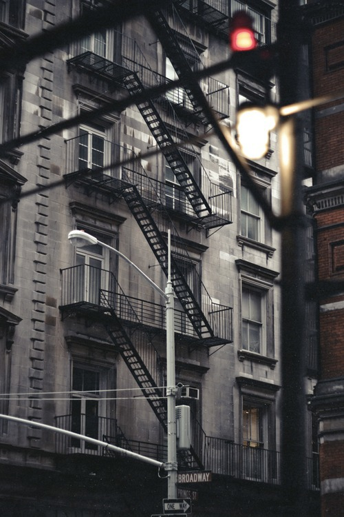 Traditional iconic new york fire escape staircase ITCHBAN.com
