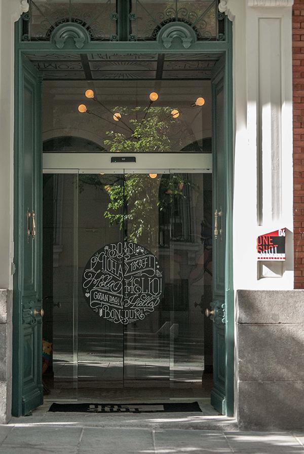Cafe glass door entrance design ITCHBAN.com