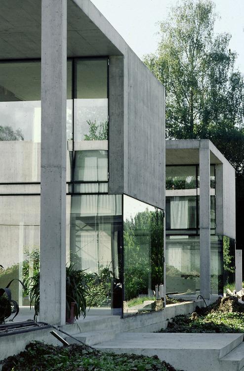 Concrete and glass combination architecture ITCHBAN.com