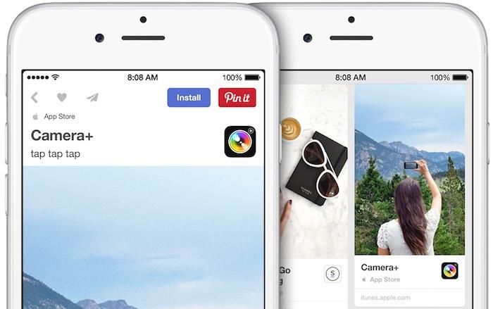 Pinterest App Pins Screenshot Demo