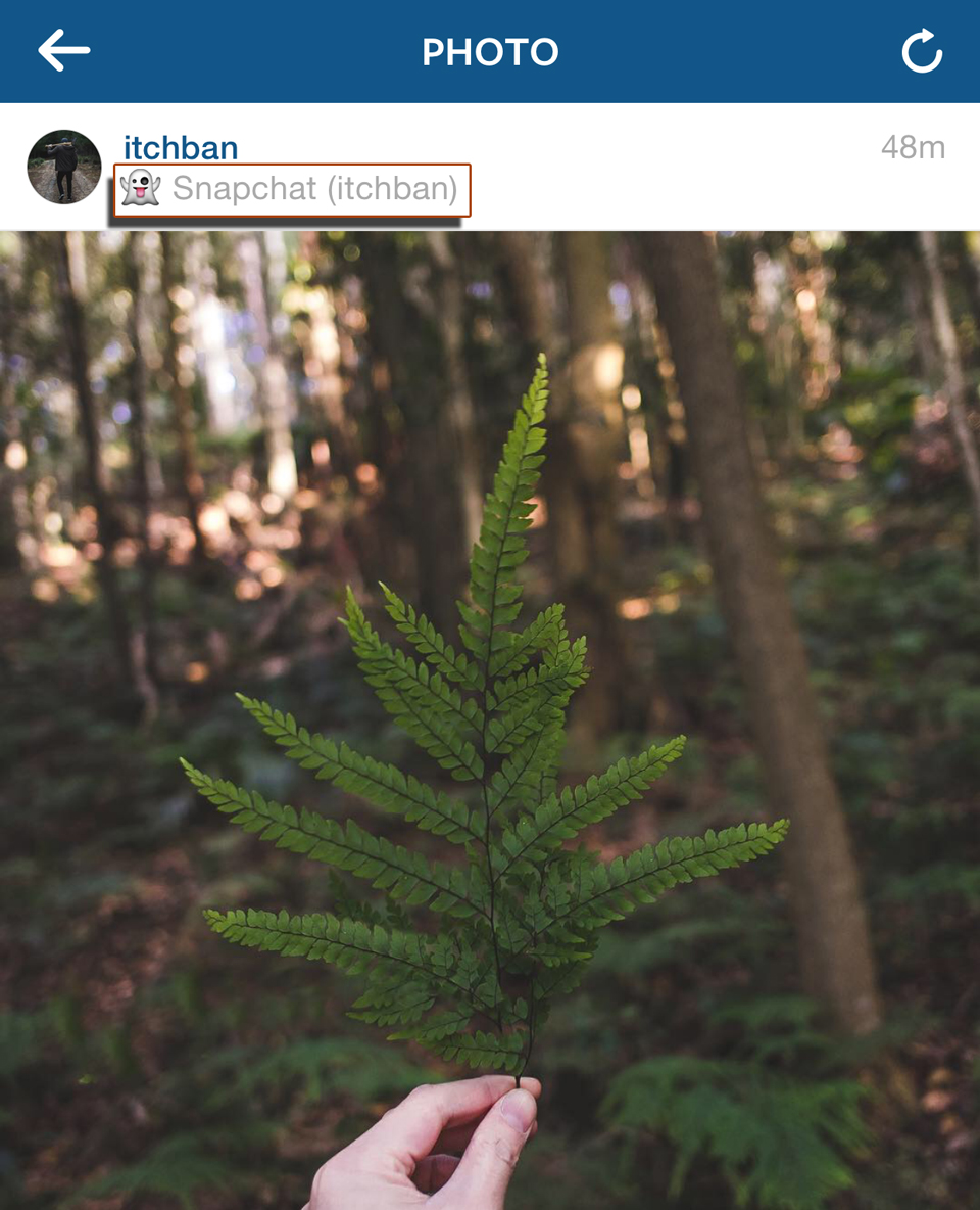 Source: @itchban Non Clickable Location tag on Instagram