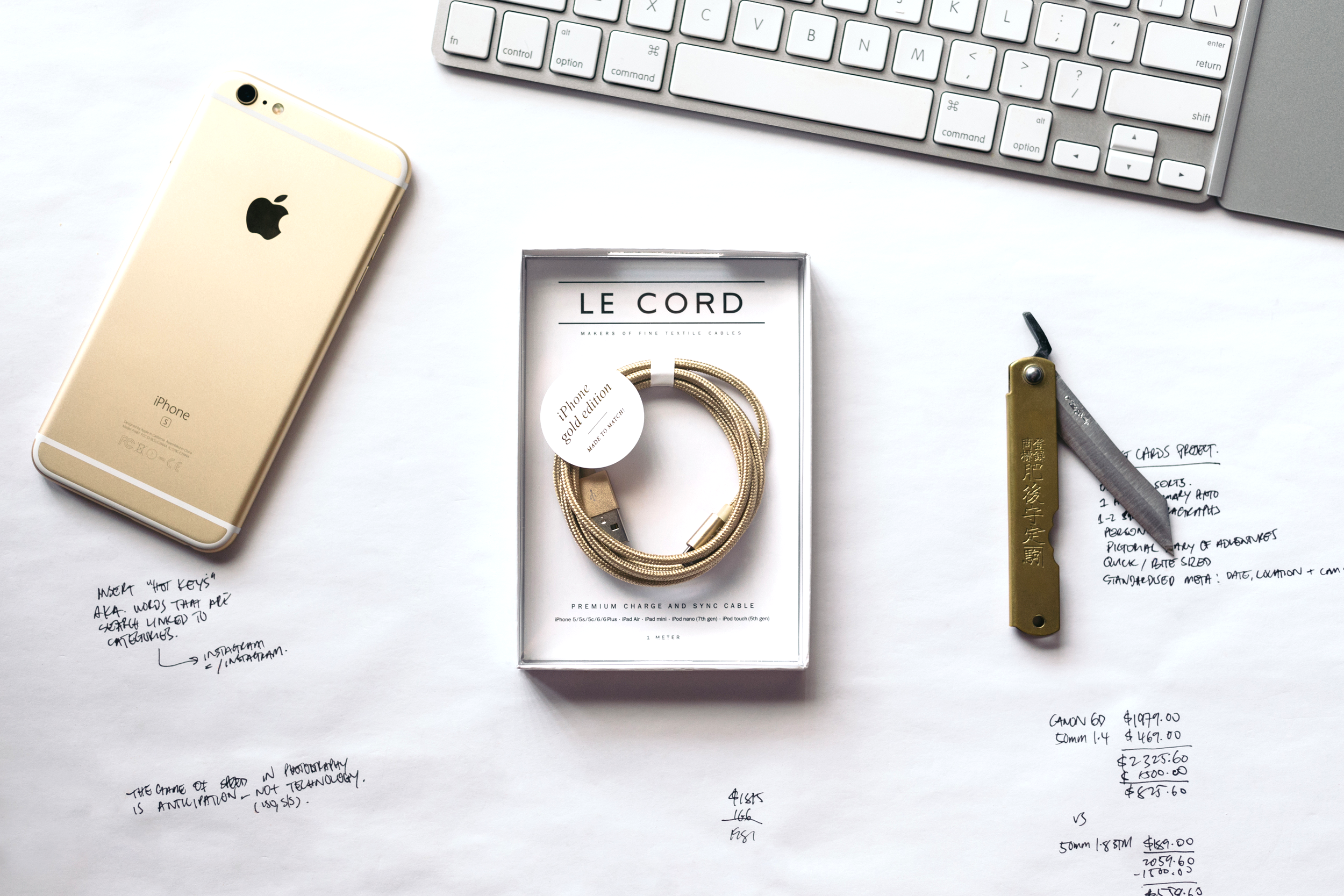 LeCord Gold iPhone Lightning Cable