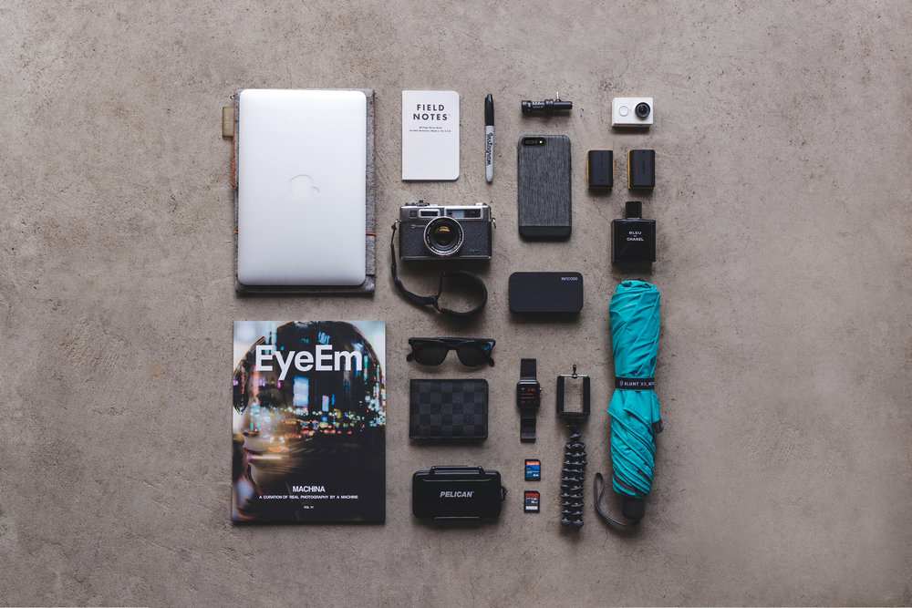Incase iPhone Case & Battery Pack Flatlay