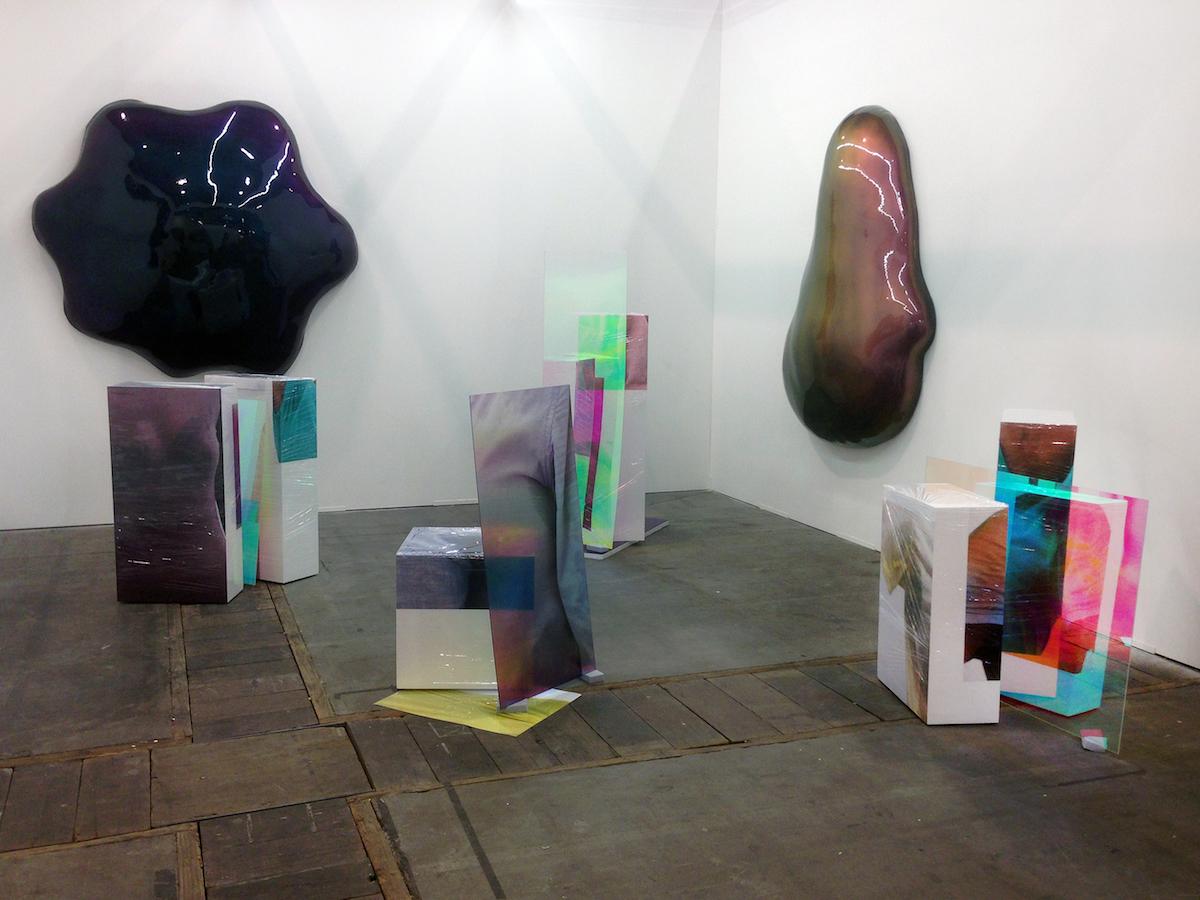 Sweaty Sculptures with works of Bob Eikelboom at BoetzelaerINispen at Art Bruxelles 2015