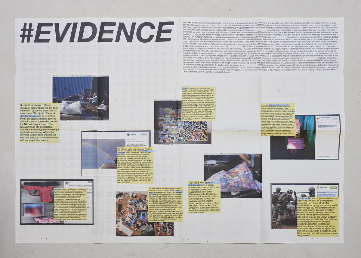 #EVIDENCE newspaper take away for free ephemeron