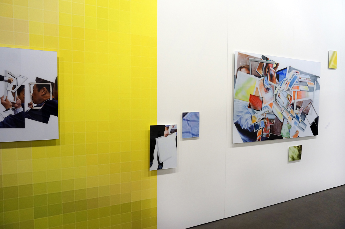overview installation 800 x 300 cm