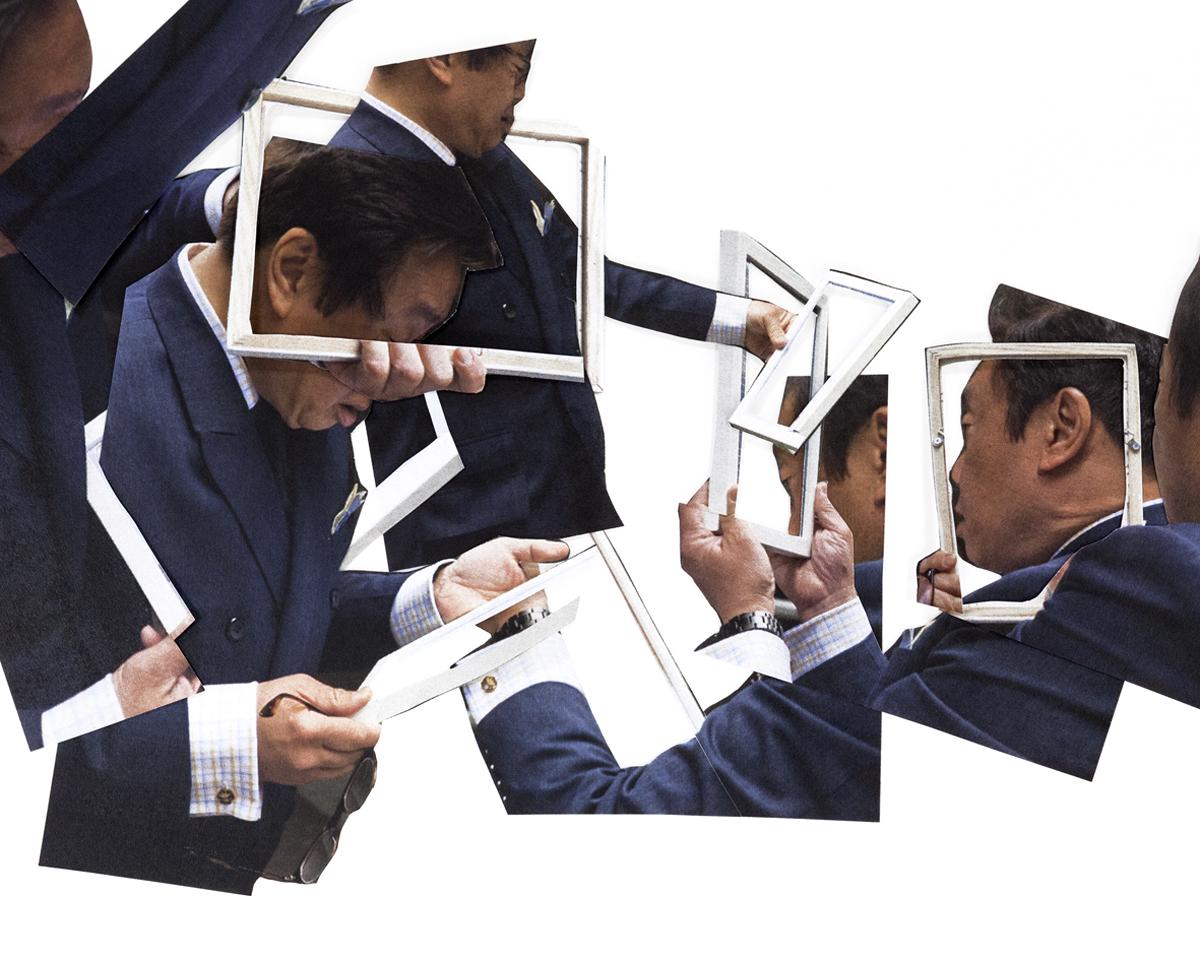 Man/considering…Ultrachrome print / diasec,45 x 70 cm