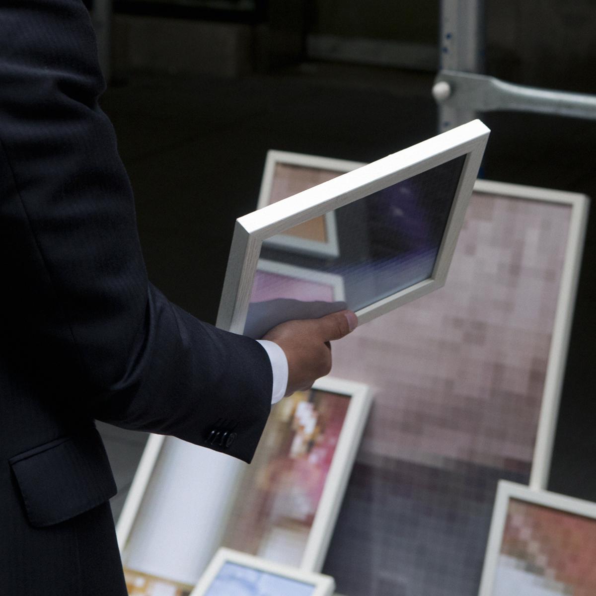 Man/deciding…Ultrachrome print / diasec,70 x 70 cm