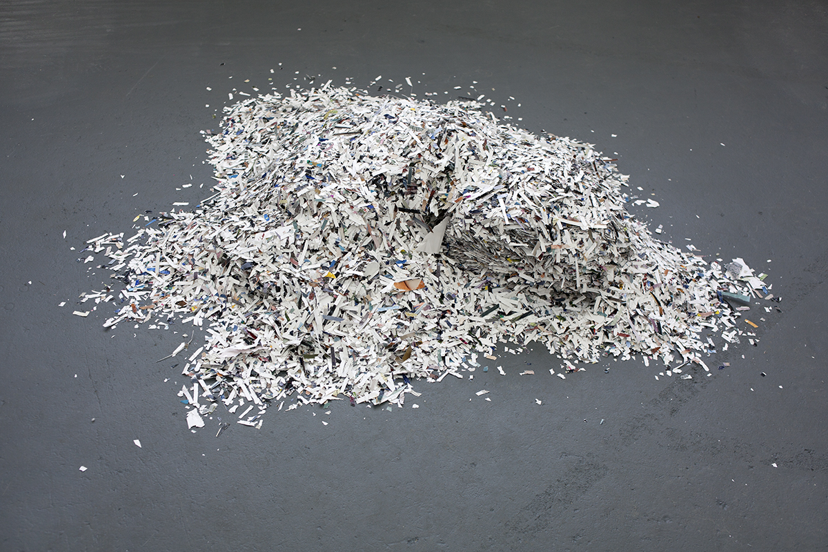 Untitled – pile of leftover shredded photos