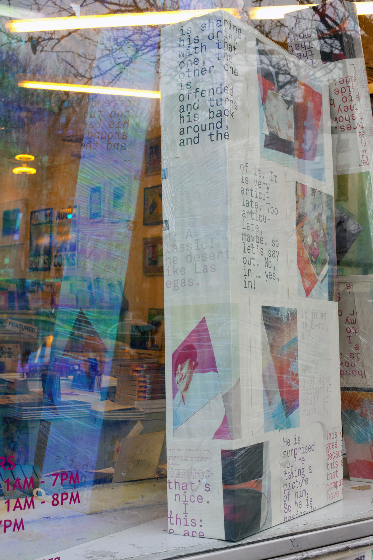 window installation at Printed Matter in New York