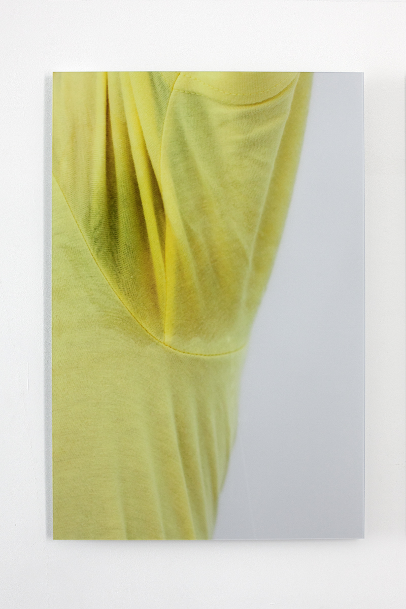 Sweat-stress (armpit right/yellow), Ultrachrome print with diasec, Edition of 4 + 2 AP, 40 x 60 cm