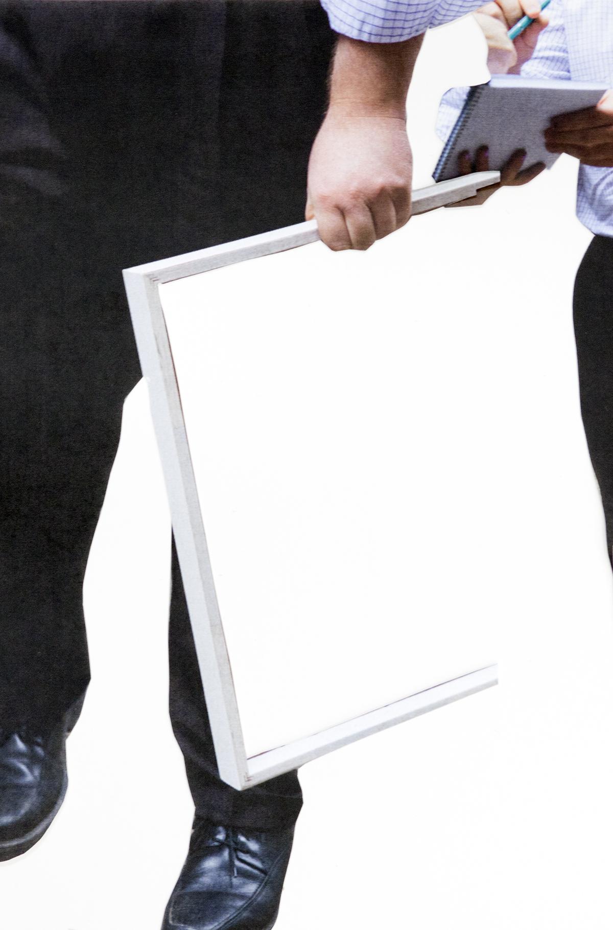 Man/signing...Ultrachrome print / diasec,33 x 50 cm