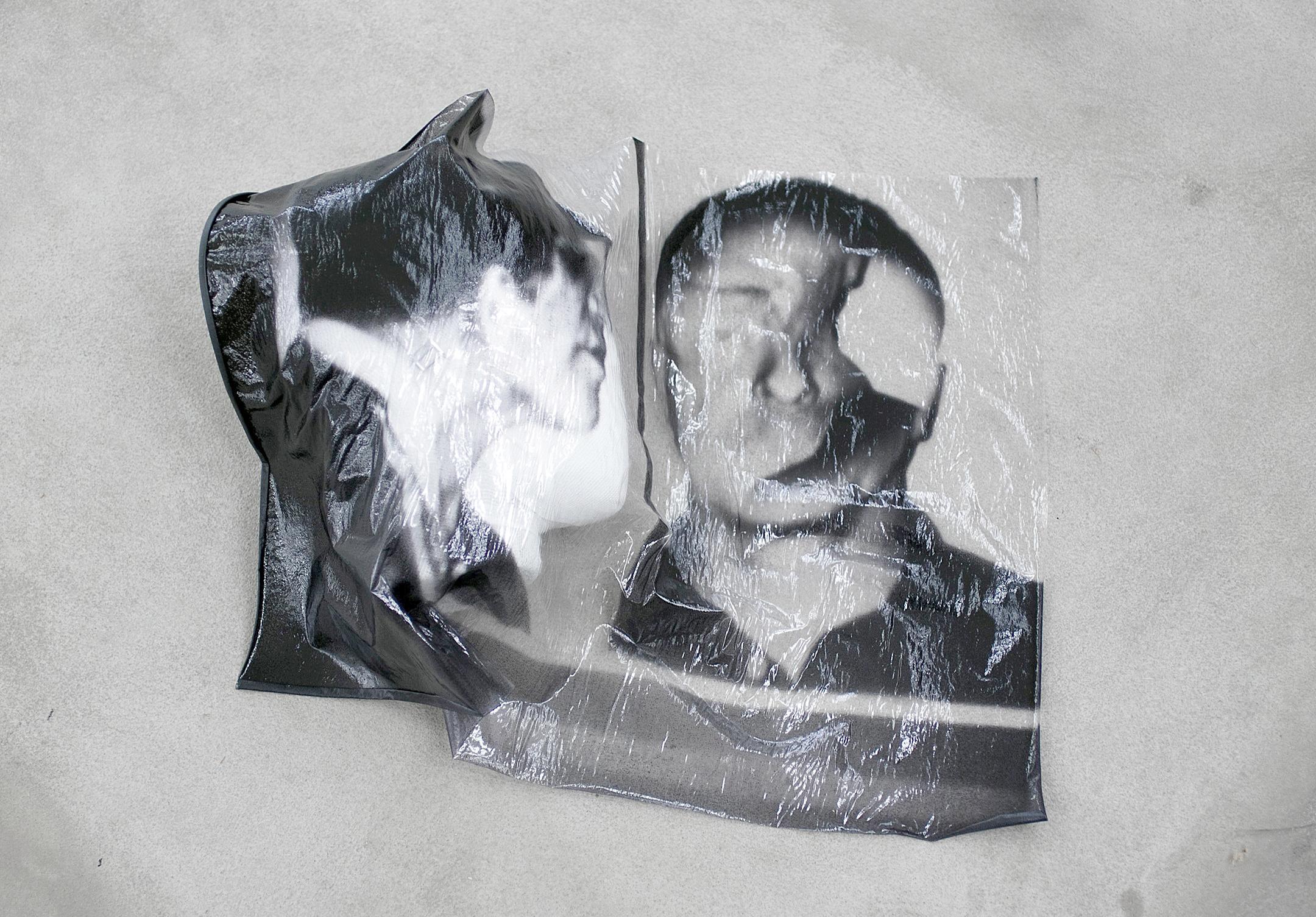 MIND-MATE, 2017, Sculpture,15 x 37 x 40 cm,Inkjet print on plastic, polystyrene, paint, bandage