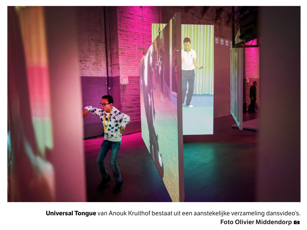 NRX newspaper wrote about Cinekid's medialab  where my new work: UNIVERSAL TONGUE is part of!