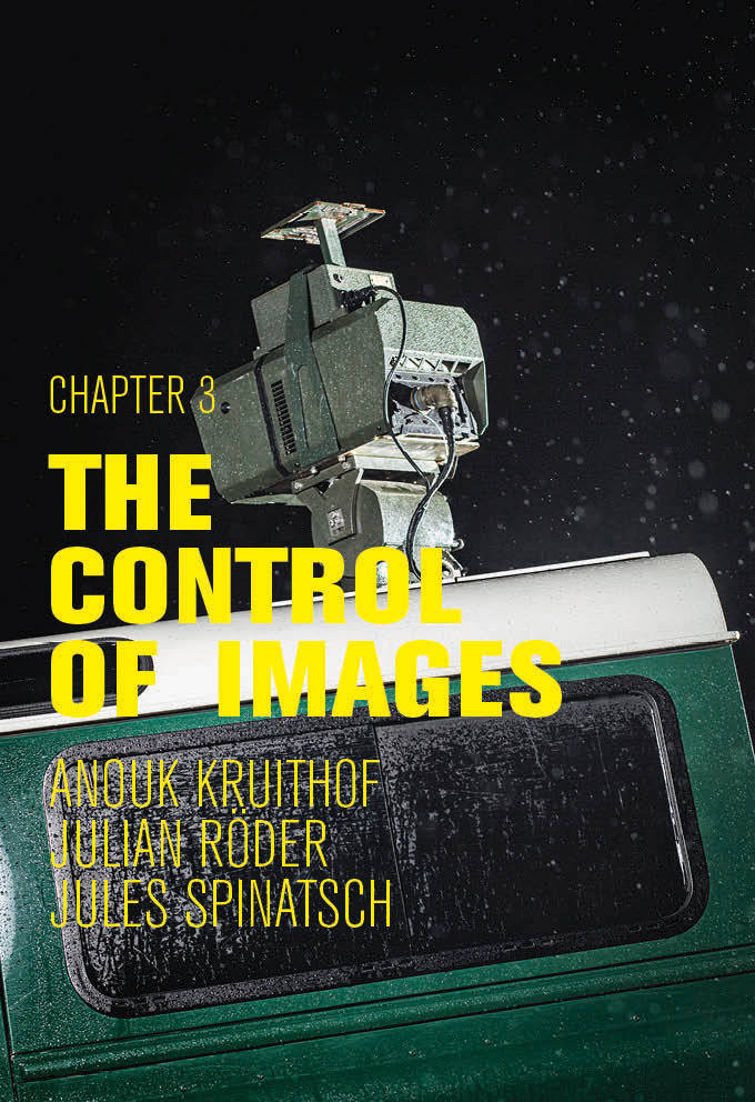 """Chapter 3 - The Control of Images   Anouk Kruithof, Jules Spinatsch, Julian Röder  Opening: 12.12.2017 ore 19 Uhr  Exhibition: 13.12.2017 - 27.01.2018 (closed: 23.12.2017 - 06.01.2018)  Curated by: Sabine Gamper, Nicolò Degiorgis  After the first two exhibitions """"Chapter 1 - The Hierarchy of Images"""" and """"Chapter 2 - The Conflict of Images"""", we will end this trilogy with """"Chapter 3 - The Control of Images"""". We have set ourselves the goal with this series of exhibitions of grappling with current forms of documentary photography by presenting positions that address important subjects in our contemporary, globalised society in a critical and reflective way. Both emerging and established exponents of documentary photographic work have been invited and presented for each edition of this series. For this third edition, we are dealing with the topic of control and surveillance, as well as with the critical observation of problematic social processes. In so doing, we are taking a critical look at to how great an extent we are monitored by surveillance cameras, via Internet, Google, etc. as we go about our day-to-day lives. Socially engaged photography can also make processes visible that significantly affect our social, economic and ecological actions, exposing injustices, mismanagement and secret machinations. The exhibition illustrates in this respect how photography can be both a surveillance instrument and a tool to reveal and challenge its negative potential impact.   The Dutch artist Anouk Kruithof, who lives in New York, Amsterdam and Mexico City, deconstructs digital Instagram images of the TSA (Transportation Security Agency) in her works, which in the """"Concealed Matters"""" project show not only confiscated weapons, but also passport photos of the persons from whom these weapons were confiscated. The portraits were blurred and rendered unrecognisable so that the faces dissolve into pixeled colour fields. The artist presents them as installation by scaling these up and"""