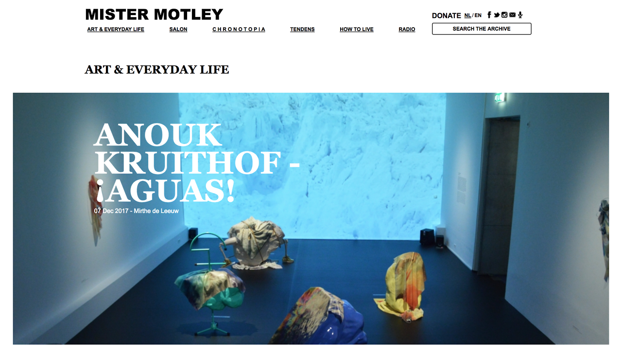Mister Motley review about AGUAS! in Foam Amsterdam