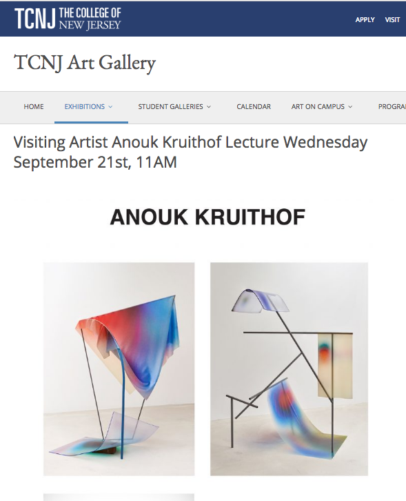 visiting artist at  The College of New Jersey