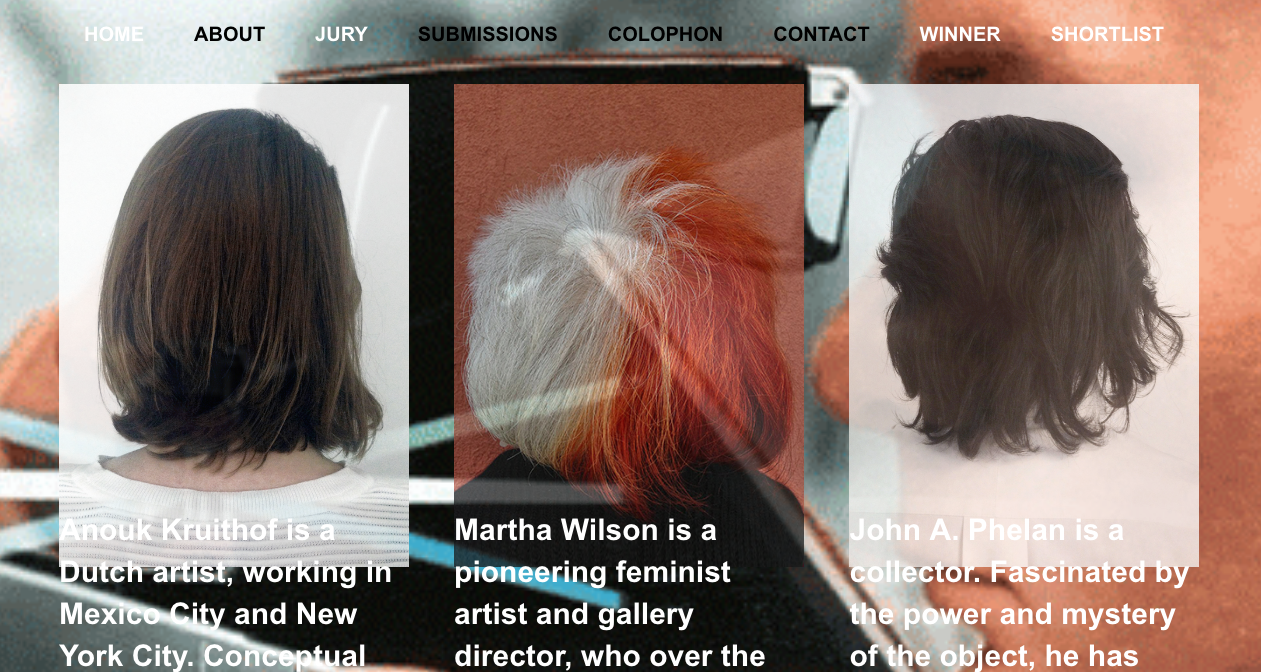 The Second edition of  The Anamorphosis Prize , which I co-created last year is now open for submissions.  the new jury member is  Martha Wilso n