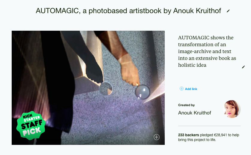 some time ago I reached the goal of my Kickstarter campaign for my 10th artistbook called AUTOMAGIC. recently I post an update on how the process is going at this time….  HERE