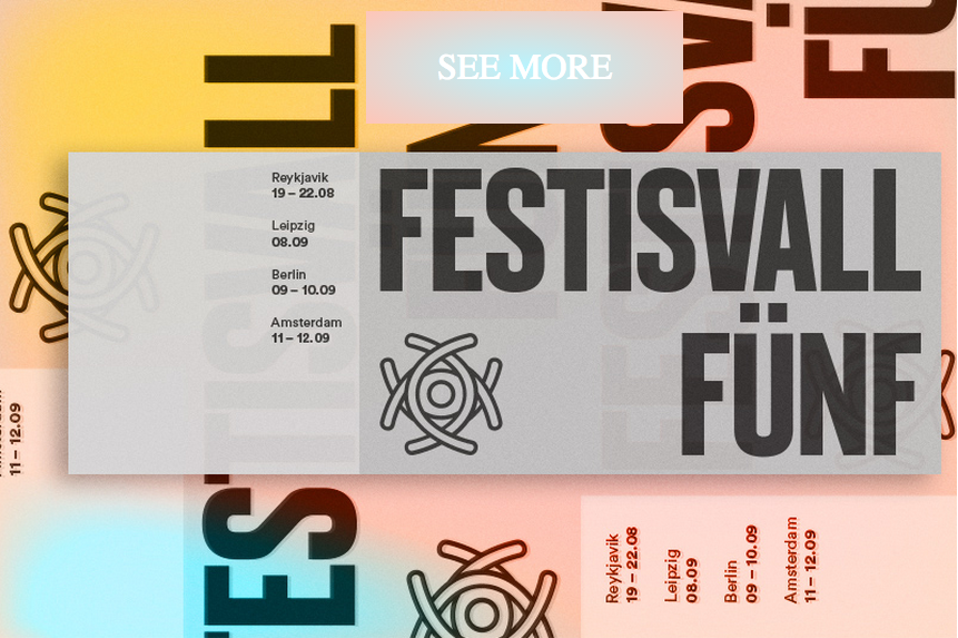 """Participation in the fifth year of  Festisvall  festival and it is our ambition to celebrate this birthday with an art- and music extravaganza, by touring with a poster exhibition and concerts to 4 cities; Reykjavík, Leipzig, Berlin and Amsterdam. Along with each art opening, we have confirmed at least three Icelandic bands to play a show in each city. Most importantly, we want you to join us and help us make this celebration as nice as possible!  In December, Festisvall commissioned 20 German, Dutch and Icelandic artists to design posters with the theme """"food"""". We chose the fixed medium of posters since that would make an easily portable exhibition. All the artists have turned in their work and we are halfway through screen printing them in our studio in Berlin.  The dates:  Reykjavík –> Aug 19.-22. Leipzig –> Sep 8. Berlin –> Sep. 9.-10. Amsterdam –> Sep. 11.-12.   The visual artists:  Anne Fellner & Burkhard Beschow (DE) Anouk Kruithof (NL)  Árni Már Erlingsson (IS)  Baldvin Einarsson (IS)  Bogomir Doringer (NL)  Cosima zu Knyphausen (DE)  Dóra Hrund Gísladóttir (IS)  Georg Weißbach & Paul Bowler as ART N MORE (DE) Halla Einarsdóttir (IS) Hanna Stiegeler (DE)  Hrafnhildur Gissurardóttir & Petra Valdimarsdóttir (IS)  Hrafnhildur Helgadóttir (IS)  Hrefna Hörn Leifsdóttir (IS) Ívar Glói Gunnarsson (IS)  Maurits de Bruijn (NL)  Rachel de Joode (NL)  Sigurður Atli Sigurðsson (IS) Till Wittwer (DE) Xavier Fernández Fuentes (NL)  Þorvaldur Jónsson (IS)    The bands:  Samaris (Only in Leipzig, Berlin and Amsterdam) Berndsen Good Moon Deer M-Band  Also for the concert in Iðnó, Reykjavík:  Hermigervill EAST OF MY YOUTH Samaris Dj set   The venues:  Reykjavík Concert: Iðnó - Aug 21 Exhibition: Vitagarður, Public space in Reykjavik  Leipzig Concert: Ost-Apotheke - Sep 8 Exhibition: T.B.A  Berlin Concert:  Kantine am Berghain  Exhibition:  SomoS   Amsterdam Concert:  Stichting Mediamatic  Exhibition: Mediamatic  Proud partners of Festisvall Fünf  Reyka Vodka Macland.is Embass"""