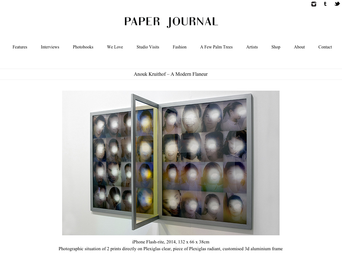 a feature on  Paper Journal  written by Alessandr Teoldi