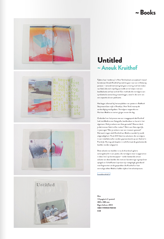 bookreview about UNTITLED (I've taken too many photos / I've never taken a photo) at NEWDAWN august 2014 nr