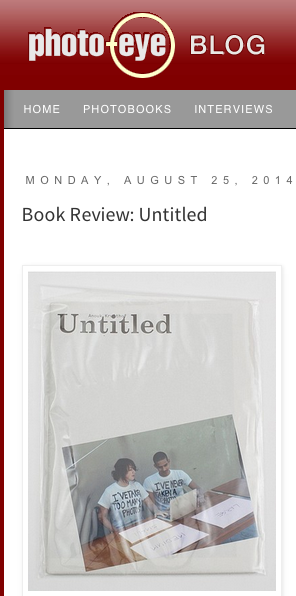 on the Photo Eye blog a review about my publication UNTITLED by Colin Pantall    read it here
