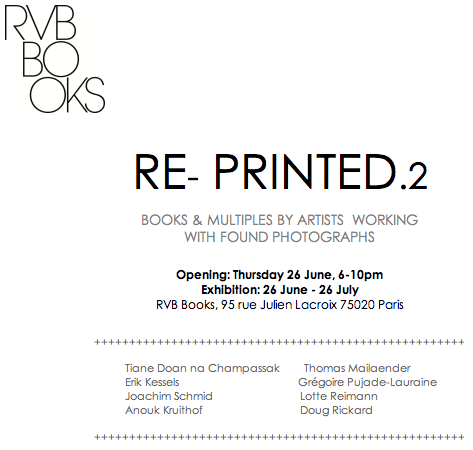 Reprinted .2    26. June - 26. July 2014     groupshows of artists books at RVB-books Paris