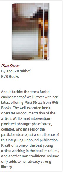 Pixel-stress selected for Photo Eye best books 2013 by chris Mc Call:   check for more info  here