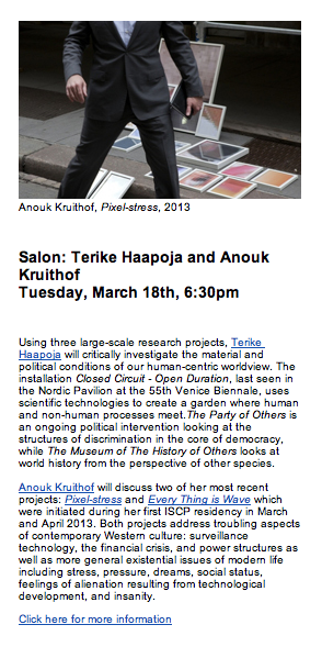 check for more info about this artist-talk salon  HERE