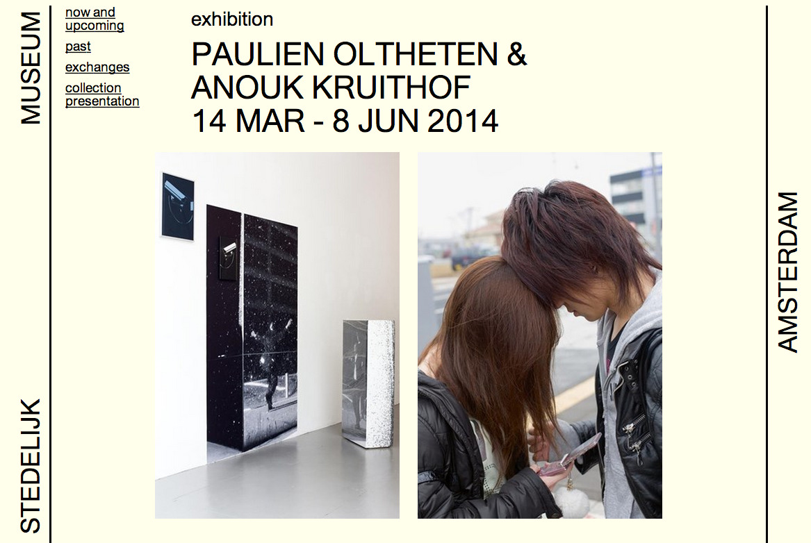 upcoming duo presentation at  Het Stedelijk Museum Amsterdam     exhibition from march 14 till june 8th 2014