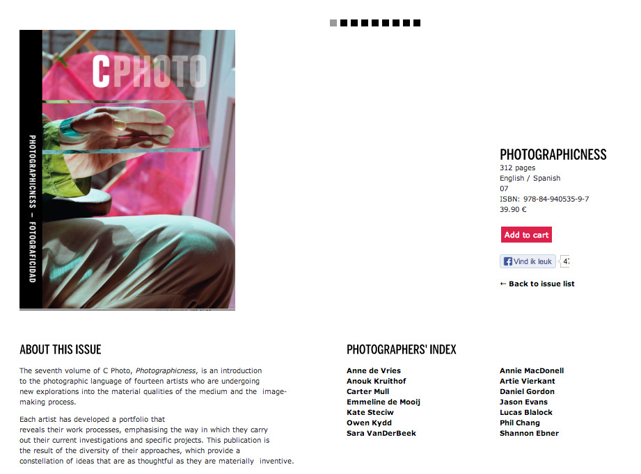 "postfolio shown in C print new issue: ""photographicness"" curated by Charlotte Cotton   check it out here: http://www.ivorypress.com/cphoto/en/issue/photographicness"