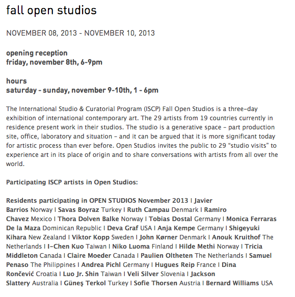 From October - end of April 2014 I am in artist in residence @   ISCP in New York!   check:http://www.iscp-nyc.org/artists/current/anouk-kruithof.html    and it's open studios 8-10 Novembe r