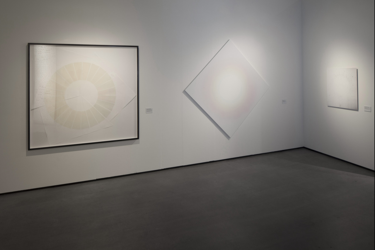 a work of Olafur Eliasson (left), Roland Schimmel(middle) and on the right side my work; Failures around the Void at     WIT, group exhibition at Het Nerlands Fotomuseum Rotterdam