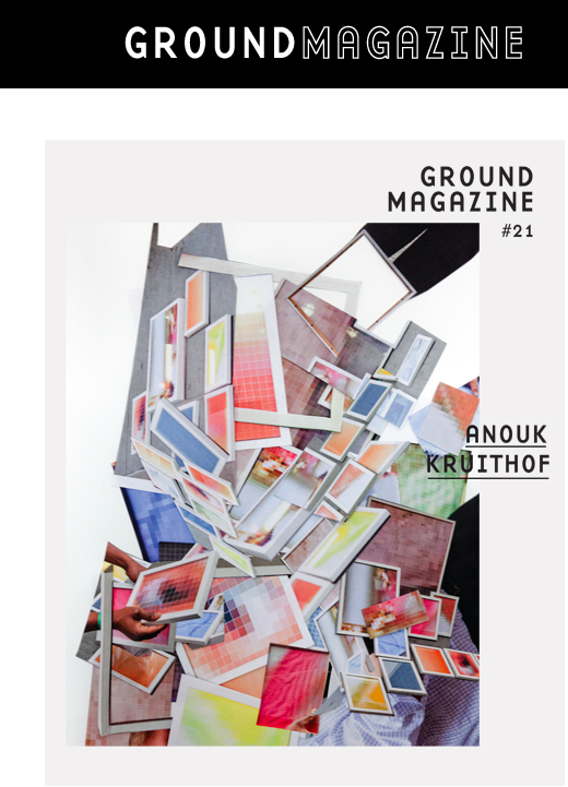 """Groundmagazine #21      #21 presents the work PIXEL STRESS by Anouk Kruithof.    """"Confronted with something inscrutable but apparently meaningful, insofar as the images are framed, we see men in suits turning the pictures around, holding them at odd angles, pressing in close and scratching their nails across the surface.""""  Text by Lorne Darnell"""
