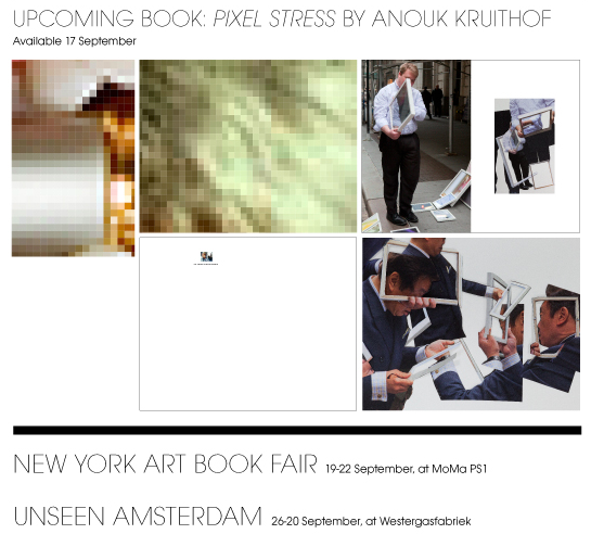 upcoming book 'pixel-stress' is soon to be launched at the nyc artbookfair with  RVB books