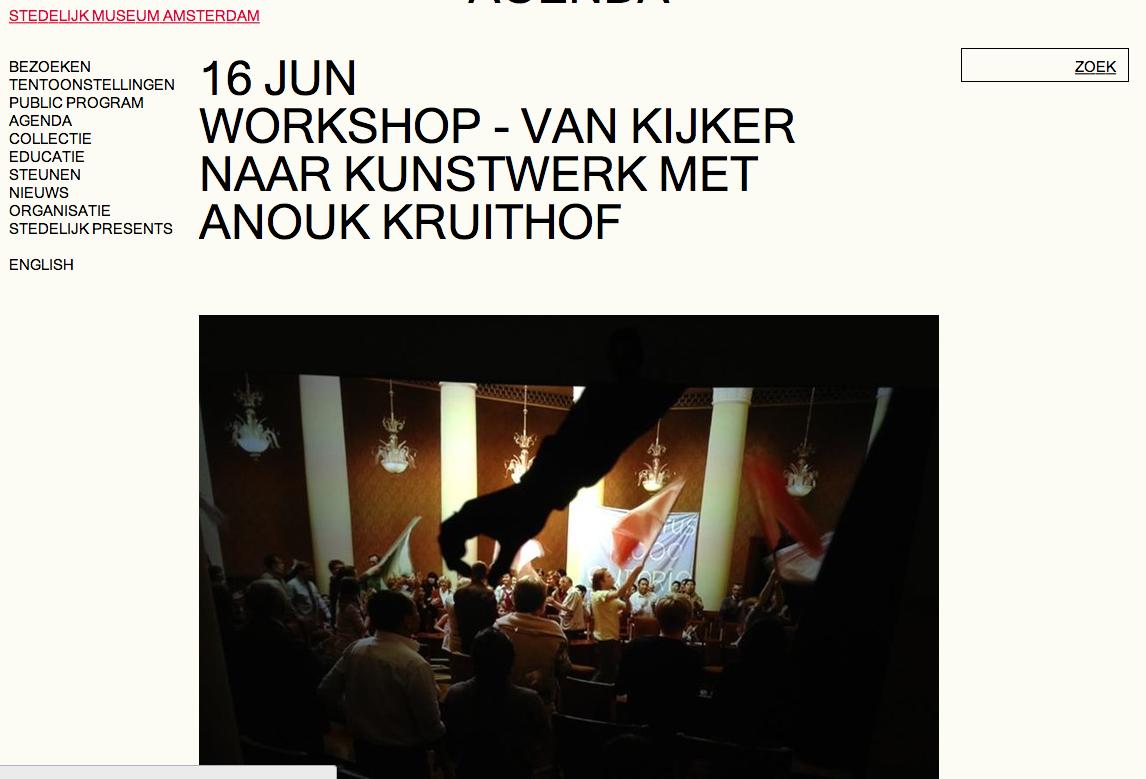 workshop for children at 'Het Stedelijk Museum'