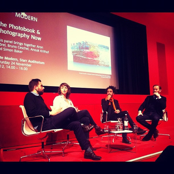 saturday 24th of november   talk and panel discussion with Simon Baker, Aron Morel, Bruno Ceschel at Tate modern   check: http://www.tate.org.uk/whats-on/tate-modern/talks-and-lectures/photobook-photography-now