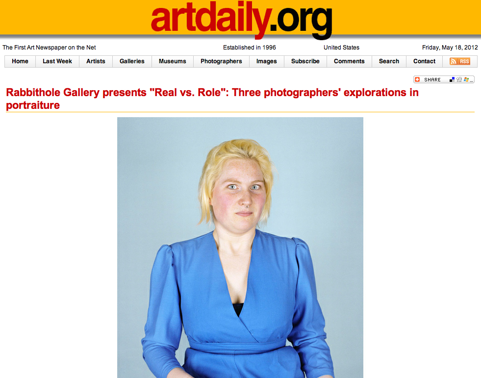 article about the groupshow  real vs role at Rabbithole artspace in dumbo NYC    on ARTDAILY  HERE